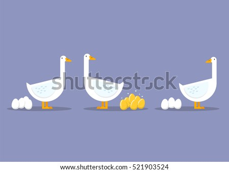 Special goose different through a group of ordinary goose. Business concept