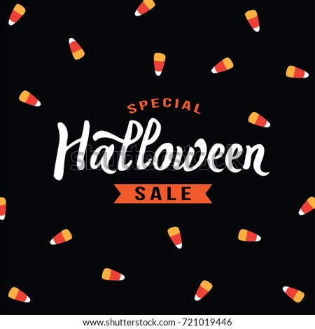 special halloween sale text