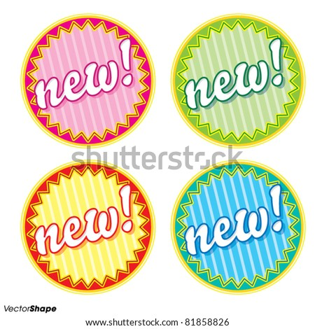 Special new product seal sticker, new offer concept, vector illustration