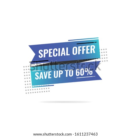 Special offer banner design template.  Banner sale tag. Market special offer discount label