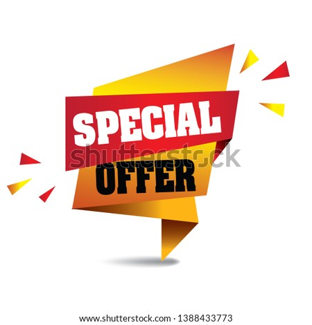 Special Offer Banner vector format