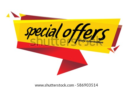 special offer banner , Vector format