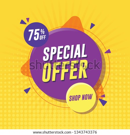 Special offer banner with yellow background
