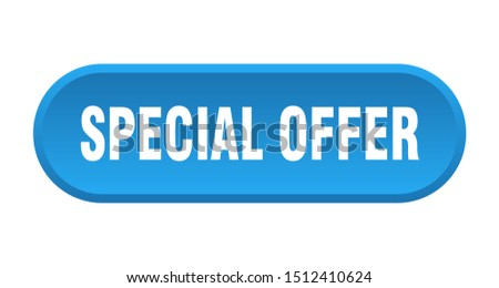 special offer button. special offer rounded blue sign. special offer