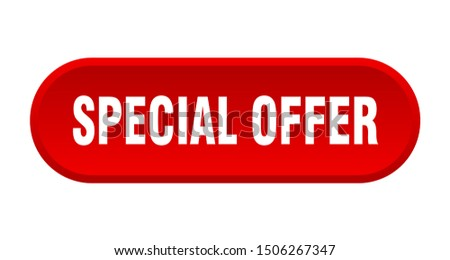 special offer button. special offer rounded red sign. special offer