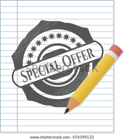 Special Offer draw (pencil strokes)