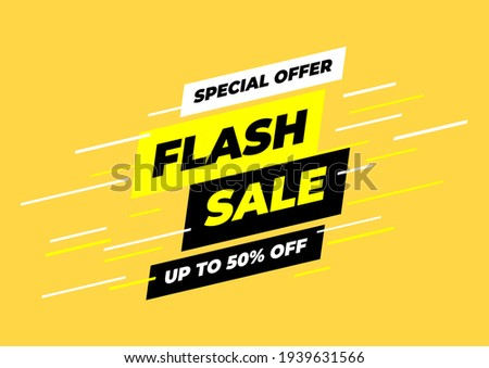 Special offer flash sale banner template.