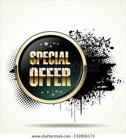 Special offer grunge banner