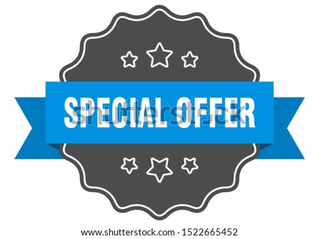 special offer label. special offer isolated seal