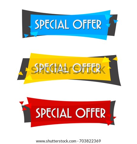 Special offer sale banner for your design ,discount clearance event festival , illustration vector