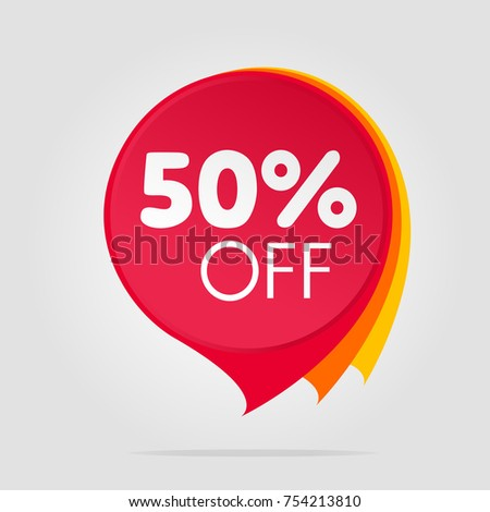 Special offer sale isolated tag red