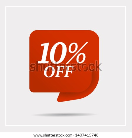 Special offer sale red tag. Discount with the price is 10% . This is the concept of the price list for discounts, of an advertising campaign, advertising marketing sales,