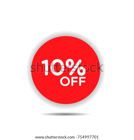 Special offer sale red tag isolated vector illustration. Discount offer price label, symbol for advertising campaign in retail, sale promo marketing, black friday sticker, ad offer on shopping day