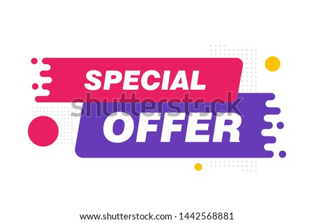 Special offer sale tag discount symbol retail sticker sign price isolated modern graphic style vector. Isolated special offer sticker vector icon.