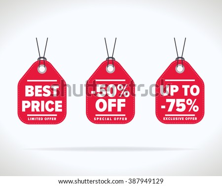 Special offer sale tag discount symbol retail sticker sign price isolated modern graphic style vector