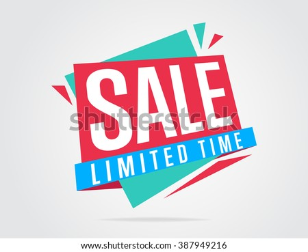 Special offer sale tag discount symbol retail sticker sign price isolated modern graphic style vector illustration
