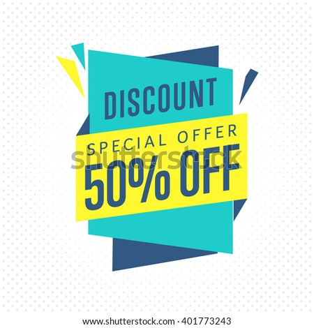 Special offer sale tag discount symbol retail sticker sign price isolated modern graphic style vector.