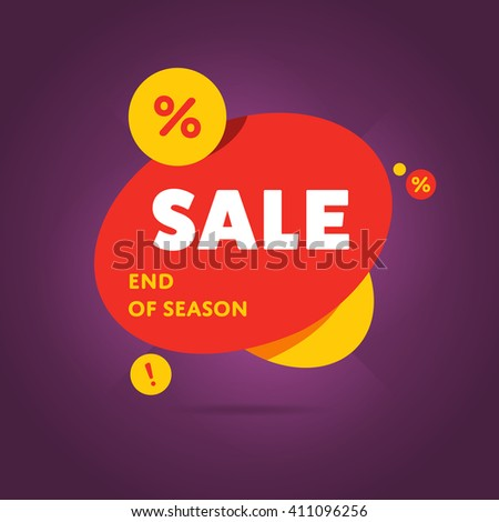 Special offer sale tag discount symbol retail sticker sign price isolated modern graphic style vector illustration.