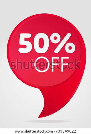 Special offer sale tag red 50