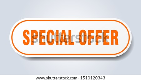 special offer sign. special offer rounded orange sticker. special offer