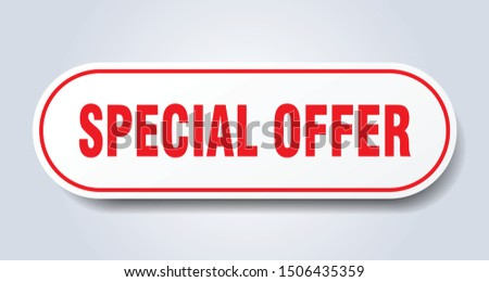 special offer sign. special offer rounded red sticker. special offer