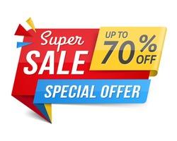Special offer super sale banner, advertisement, promotion design, vector eps10 illustration