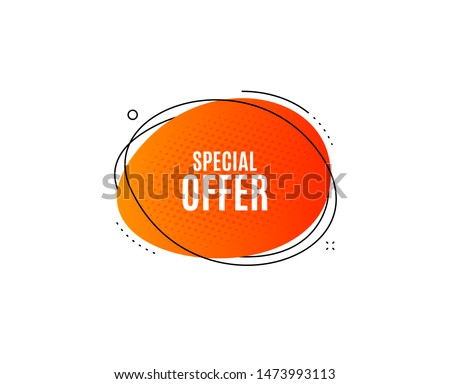 Special offer symbol. Banner badge, offer sticker. Sale sign. Advertising Discounts symbol. Special offer banner. Sticker badge. Vector