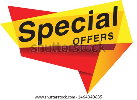 Special Offer Tag vector Eps 10