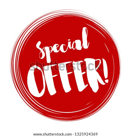 Special offer tag, Vector illustration. Special offer tag design
