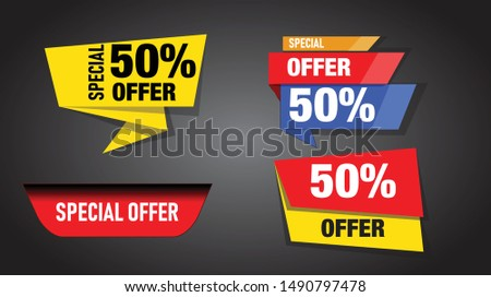 Special offer vector banners for sale or  festivals