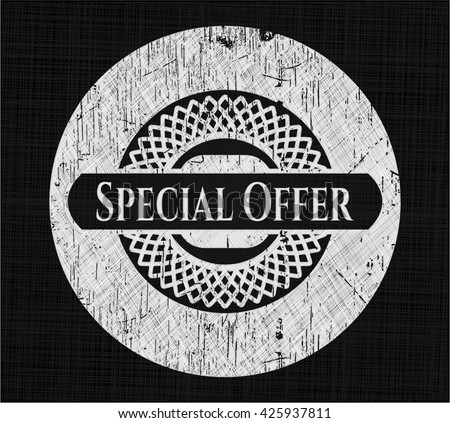 Special Offer written with chalkboard texture