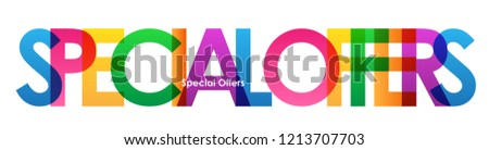 SPECIAL OFFERS colorful letters banner