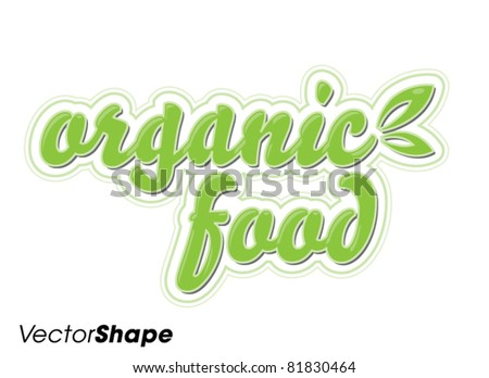 Special organic food seal sticker vector illustration