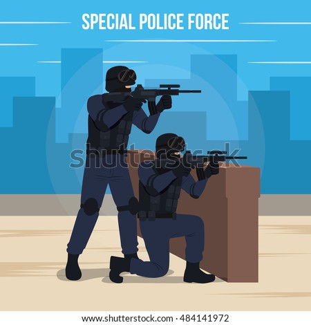 special police force vector