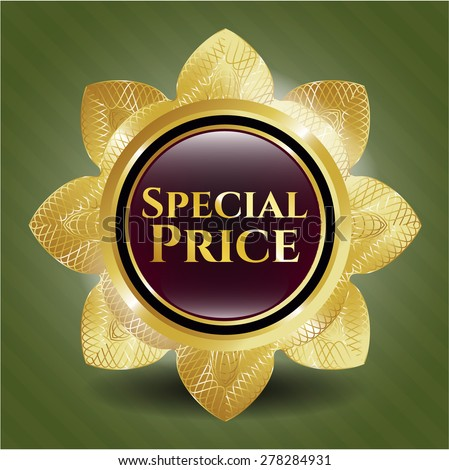 Special price gold shiny flower