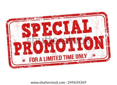 Special promotion grunge rubber stamp on white background, vector illustration