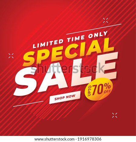 special sale red banner with offer details