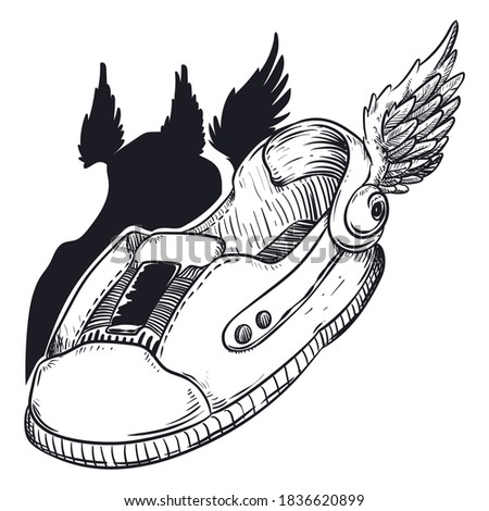 Special shoes with magic wings to fly, like Hermes the emissary Greek deity. Сток-фото ©