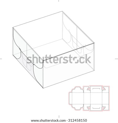 Royalty Free Tall Box With Auto Lock Bottom And Die 178863695