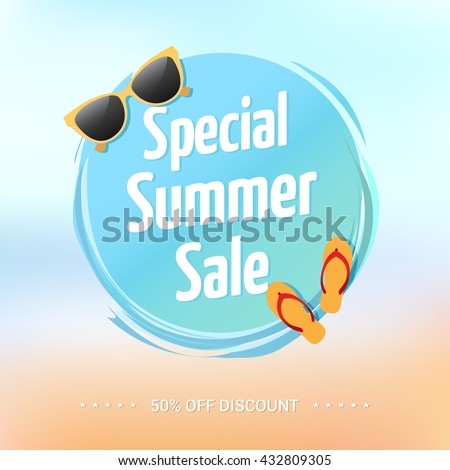 Special Summer Sale Label