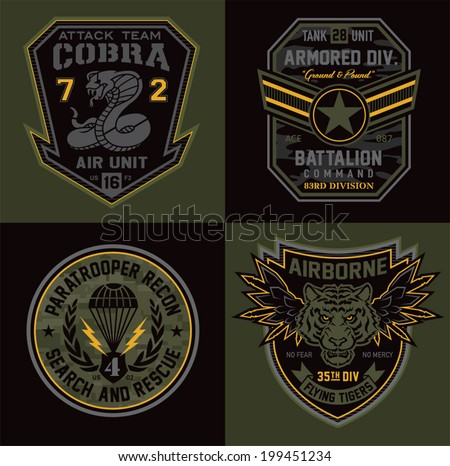 special unit military patches