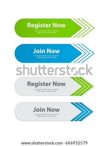 special website buttons,register,download,join advertisement banners,vector design