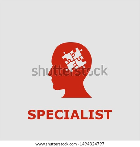 Specialist symbol. Outline specialist icon. Specialist vector illustration for graphic art.