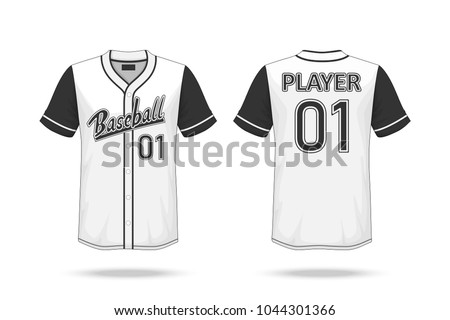 Specification Baseball T Shirt Mockup Isolated On White Background A Sample Design Elements Or Text