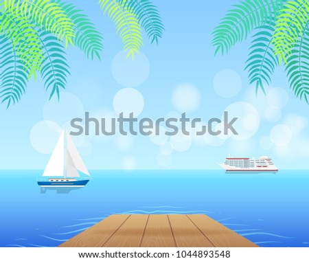spectacular seascape with white