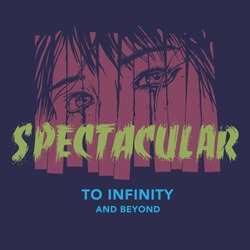 Spectacular to infinity and beyond quoted crying girl illustration for t shirts and poster prints