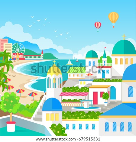 spectacular view of resort town