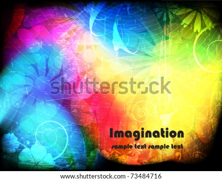 Spectral background with vegetative elements