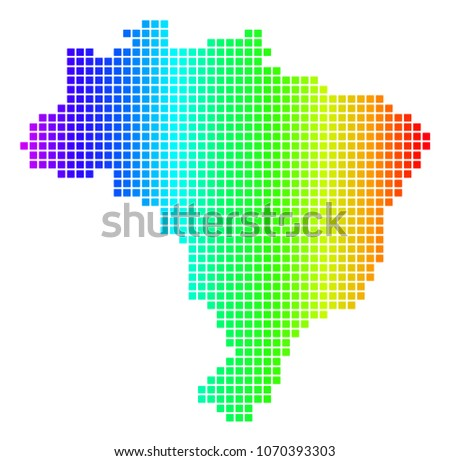 Free Brazil Vector Pixel Map Download Free Vector Art Stock