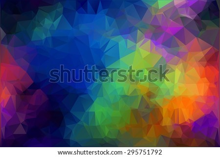 spectrum polygonal background